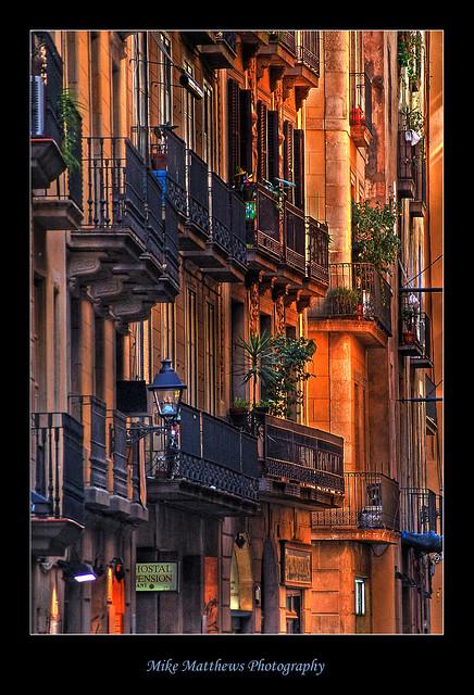 Wall of balconies