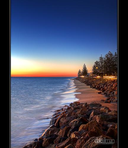 ocean longexposure sunset beach nature water sand brighton waves australia adelaide lighttrails southaustralia hdr 1740 photomatix canon5dmkii
