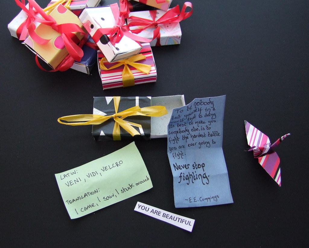 surprise present boxes contents