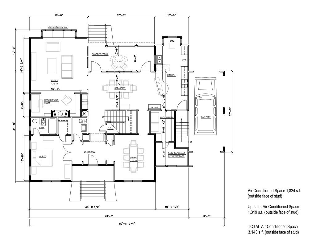 Version 2.0 of the schematics for our #LEED house - #greenbuilding in #Houston