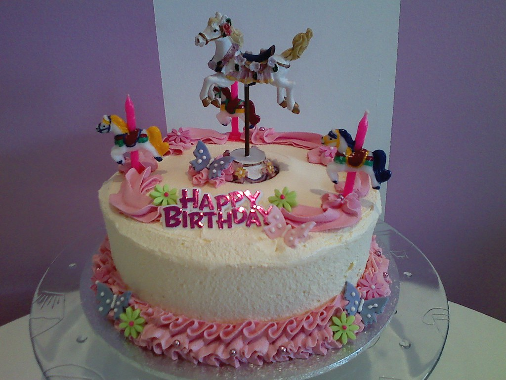 Super Carousel Birthday Cake American Candy Stand Cupcakes Aust Personalised Birthday Cards Akebfashionlily Jamesorg
