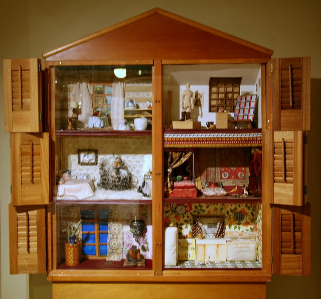 Dollhouse Dollhouse 1972 Wood And Mixed Media By