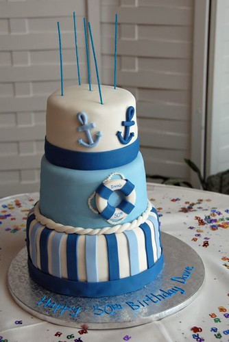 Wondrous Nautical Birthday Cake Lise Ode Flickr Personalised Birthday Cards Veneteletsinfo