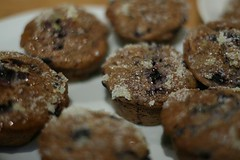 Blåbærmuffins, how to make blueberry muffins diggmat.com | by luxas