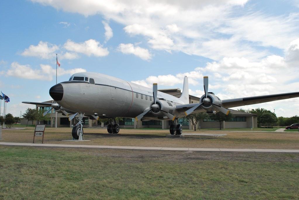 Header Image: C-118 at Lackland Air Force Base