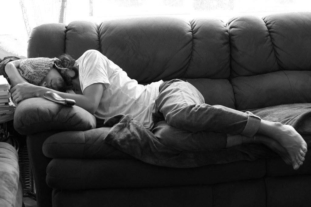 ... Sleeping Man, Day 100 of 365 - by DieselDemon