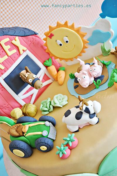 Pleasant Farm Tractor And Animals Birthday Cake 2 6 Farm Cake For Flickr Funny Birthday Cards Online Benoljebrpdamsfinfo