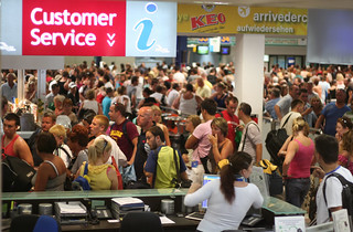 Airport delay: crowded terminal | by Mark Hodson Photos