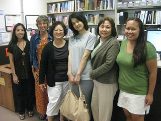 Yumi and the Atherton Library Staff