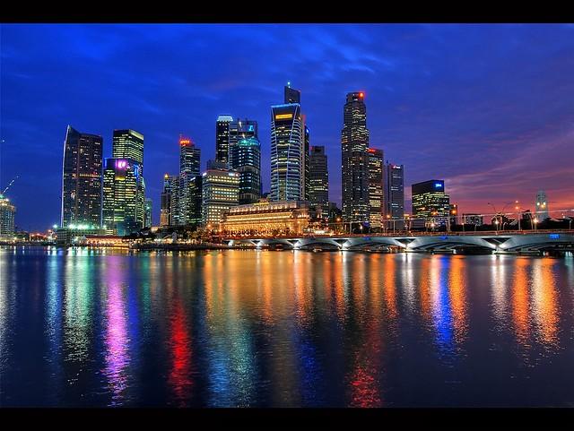 Singapore CBD Nightscape