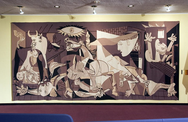 "Replica Tapestry of Pablo Picasso's ""Guernica"""