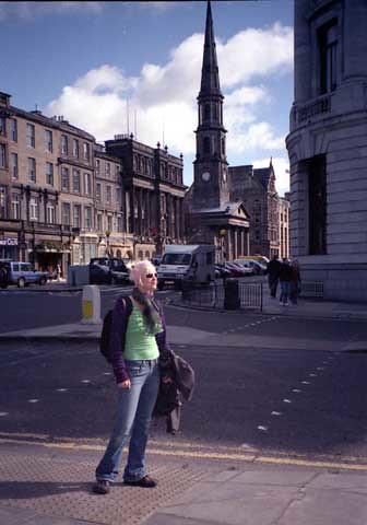 Michael rockin' it in Scotland