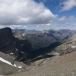 Piegan Pass from Piegan Mountain