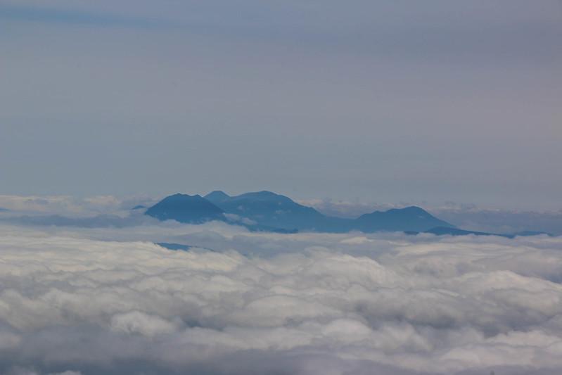 斜里岳から阿寒岳
