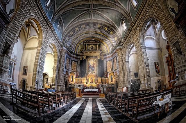 Interior de la Iglesia Ex-Colegiata de Santa María la Mayor. Rubielos de Mora (Teruel) (Fisheye Vision)