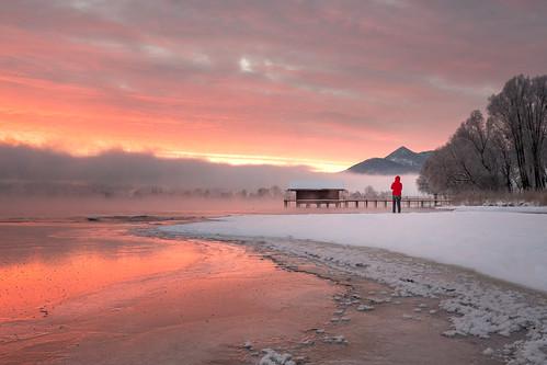 chiemsee sunrise january fujixpro2 landscape winter prien snow prienamchiemsee bayern germany de