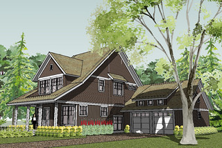 Bayport Bungalow House Plan Rendering   House Designed by ...