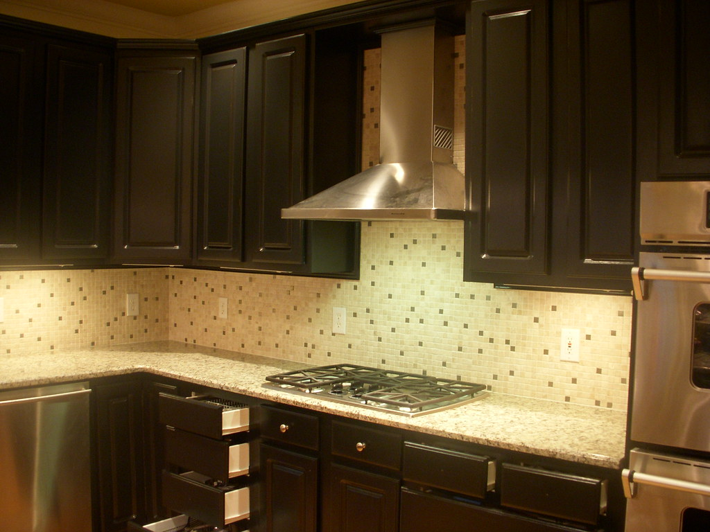Black distressed kitchen cabinets   For more info: heatherst ...