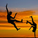 Capoeira in the Sunset by Beto Frota