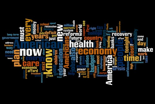 Word Cloud of Obama's speech to Congress | by Jason-Morrison