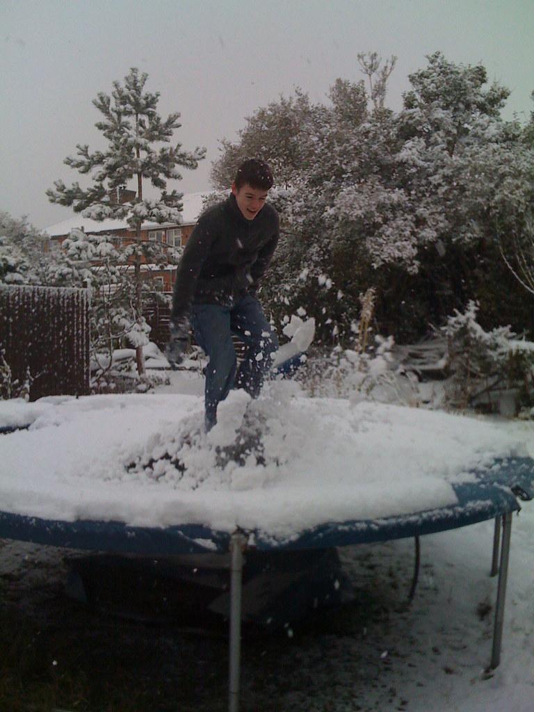 Snowy Trampoline
