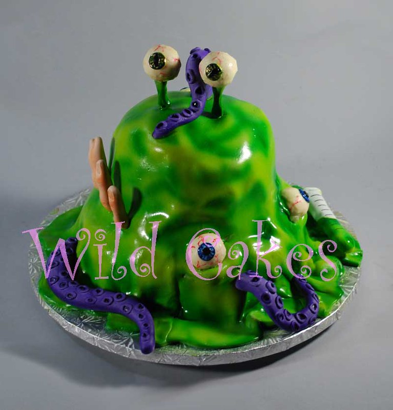 Strange Mad Science Birthday Cake Its Alive Wild Cakes Flickr Personalised Birthday Cards Petedlily Jamesorg