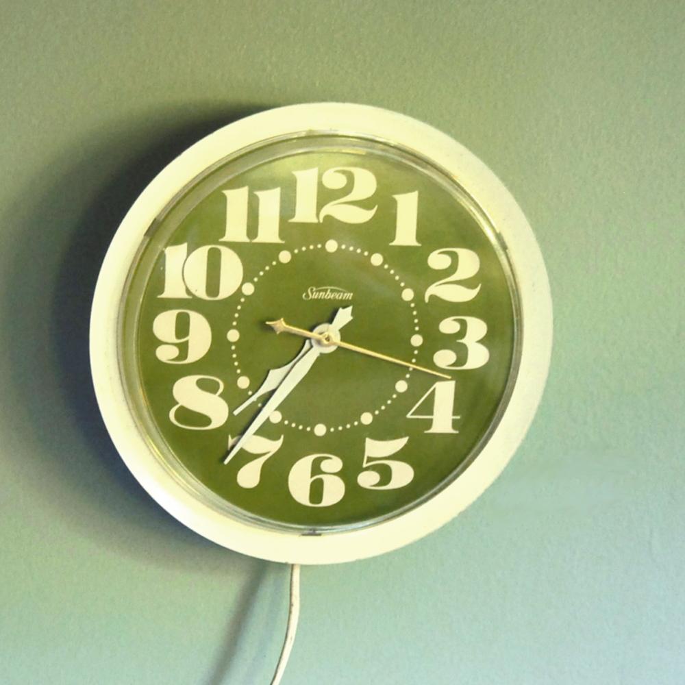 Vintage Sunbeam 1970s Wall Clock
