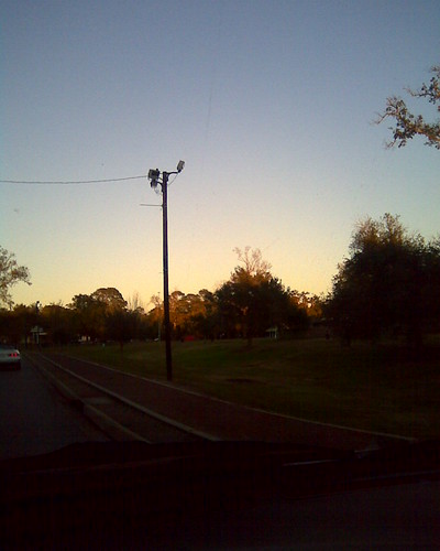 road park trees sunset sky cars grass louisiana driving lafayette lamppost incar 365 joggingtrail girardpark