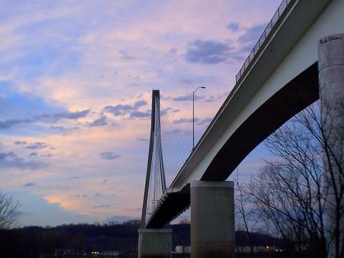 bridge sunset sky evening twilight union late ohioriver ironworker huntingtonwv 31ststreetbridge guyandotte rcvernors proctorvilleoh guyandottewv larrychilders local769 eastendbridge