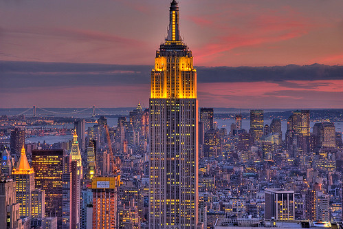 Empire State Building at Sunset   by zoltaan