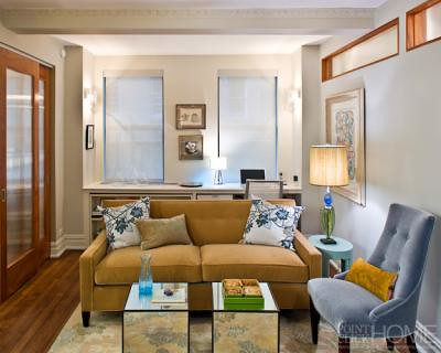 Small spaces: Elegant, compact living room, from Elle Deco… | Flickr