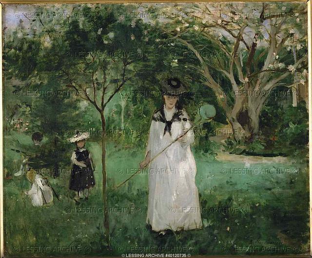 Berthe Morisot: Butterfly hunting (1874)