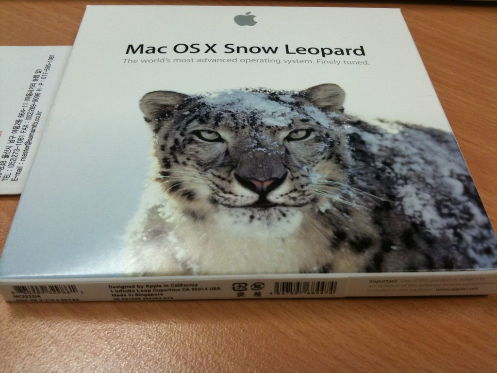 Snow Leopard install disk   An Australian Snow Leopard insta…   Flickr