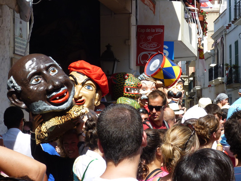 Paper Mache Heads featured in the parade.