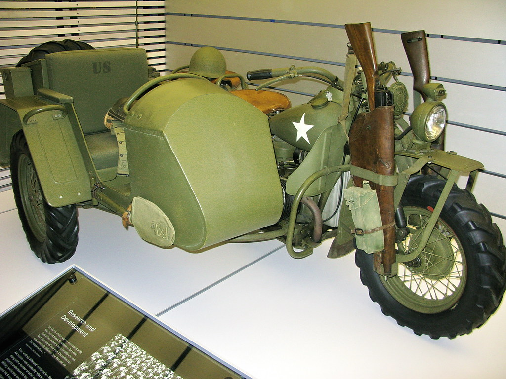 Harley Davidson Army: US Army WWII Harley-Davidson Motorcycle With Sidecar And R