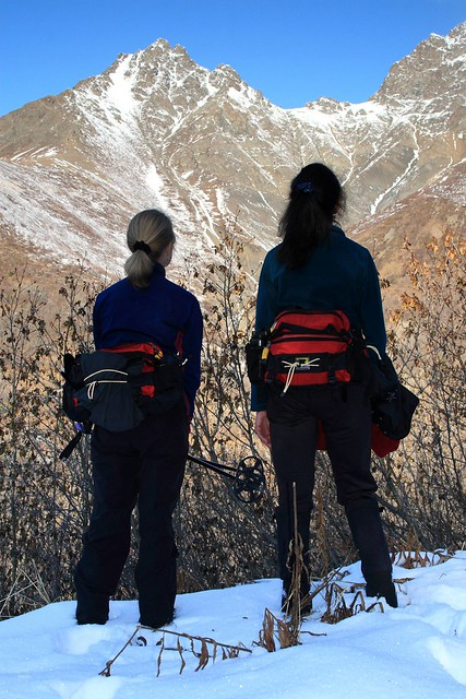 Two lovely hikerettes checking out Twin Peaks