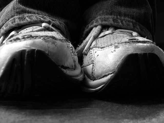 {112} old sneakers