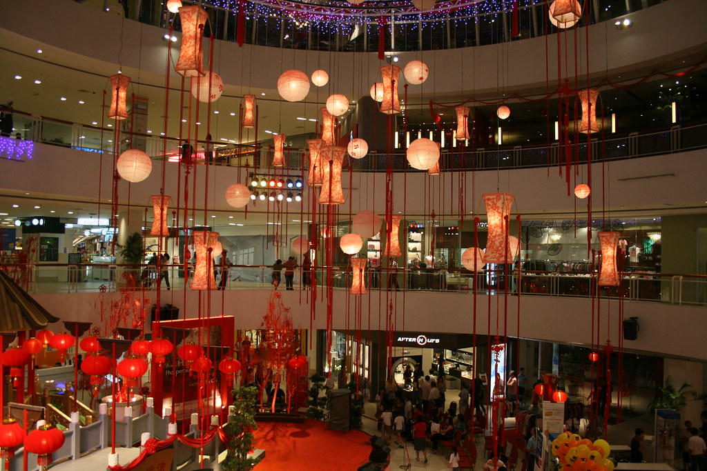 chinese new year decoration at queensbay mall | Dickson ...