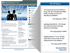 HP Buzz on internal portal powered by spy.appspot.com | by hedrinbc