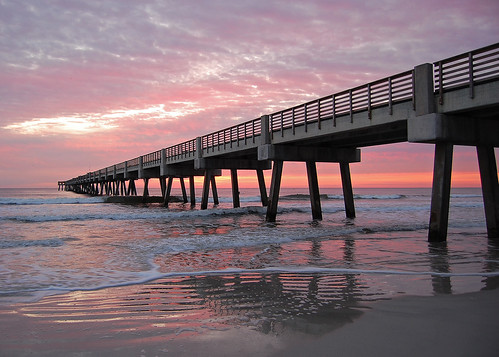 sunrise pier florida jacksonville atlanticocean jacksonvillebeach nikond40