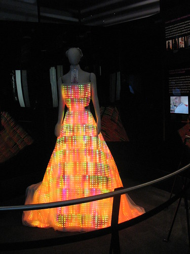 electronic led light dress at the museum of science and industry in chicago | by David Hilowitz
