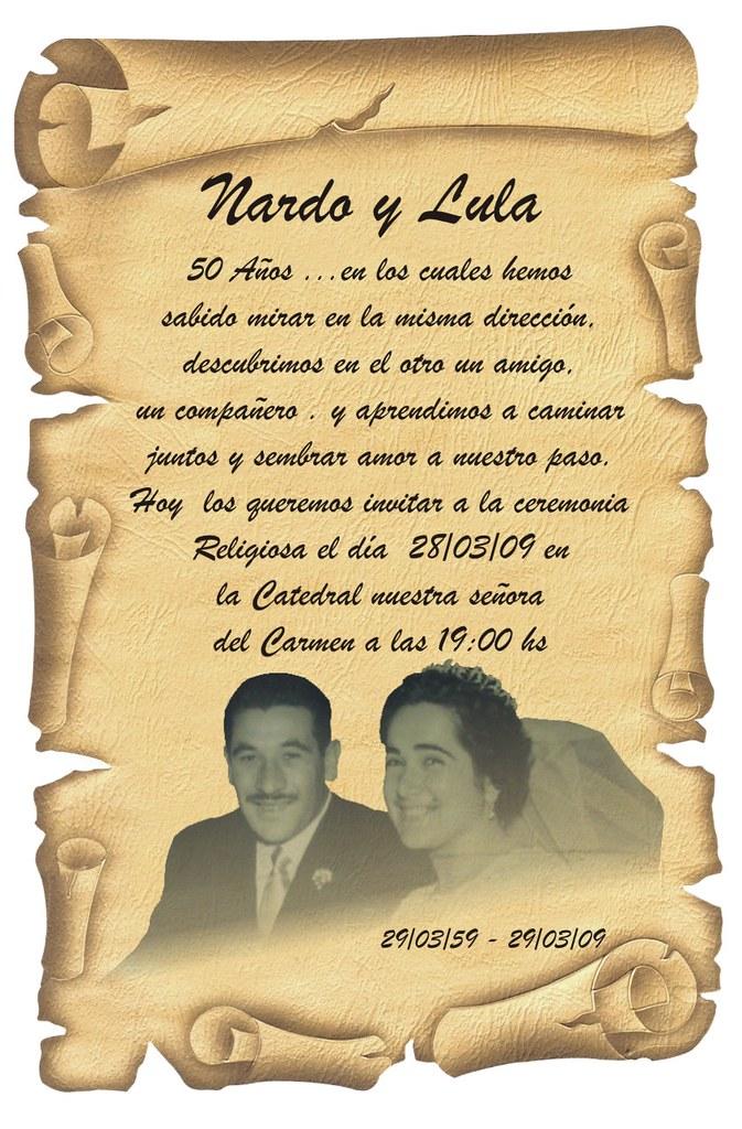 Invitaciones De Bodas De Oro
