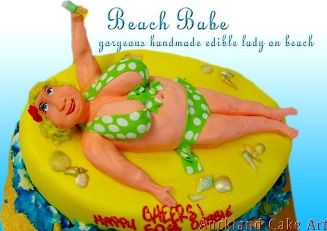 Astonishing Fat Lady Gorgeous Beach Babe Birthday Cake All Edible Beac Flickr Funny Birthday Cards Online Necthendildamsfinfo