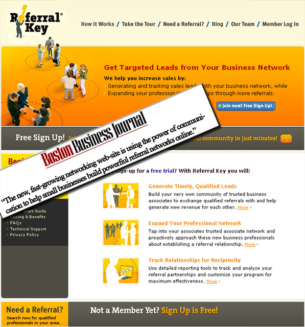 Referral Key Original Homepage | Launched in August 2007, Re… | Flickr