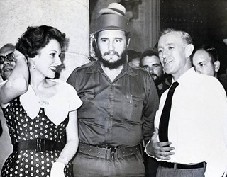 Fidel Castro, Maureen O'Hara and Alec Guinness | by Iconista