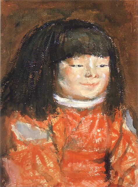 岸田劉生「麗子像」(1922)