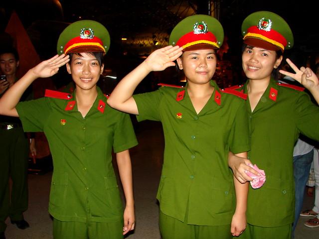 Women Soldiers at Ho Chi Minh Museum - Hanoi - Vietnam