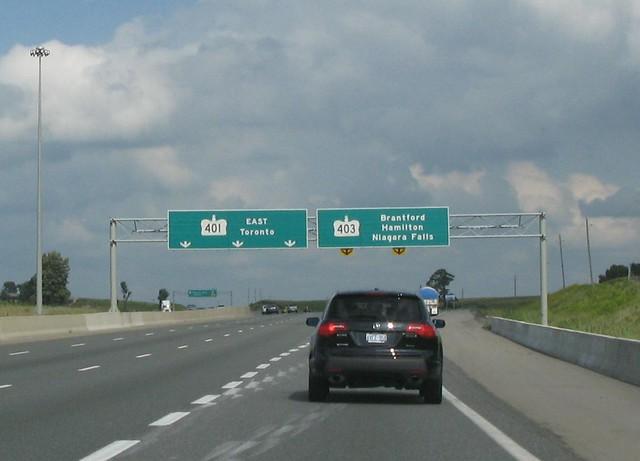 Highway 401 403 split | Highway 401/403 split in Woodstock, … | Flickr