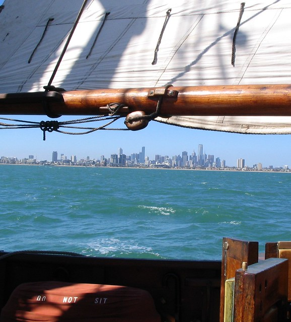Melbourne from a sailing ship
