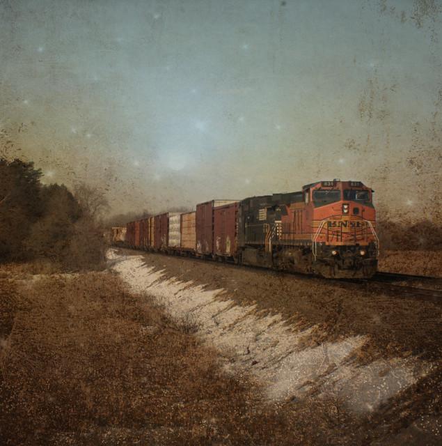 Train On the Prairie